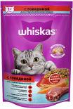 Сухой корм для кошек Whiskas с говядиной и вкусными подушечками 350г