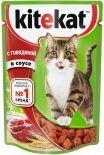 Корм для кошек Kitekat с говядиной в соусе 85г