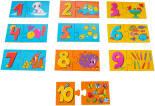 Игра настольная детская Dream Makers Цифры и счет 10 пазлов
