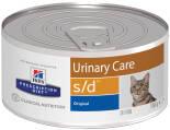 Влажный корм для кошек Hills Prescription Diet s/d для лечения МКБ 156г