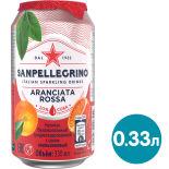 Напиток Sanpellegrino Aranciata Rossa 330мл