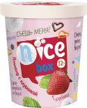 Мороженое Nice box пломбир с клубникой 12% 450г