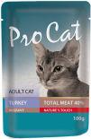 Корм для кошек Pro Cat Индейка 100г