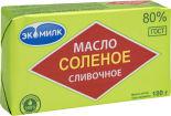 Масло сливочное Экомилк соленое 80% 180г