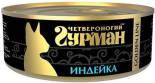 Корм для кошек Четвероногий Гурман Golden Line Индейка 100г