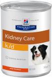 Влажный корм для собак Hills Prescription Diet k/d при заболеваниях почек с курицей 370г