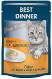 Корм для кошек Best Dinner Мясные деликатесы Суфле с индейкой 85г