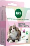 Лакомство для кошек Triol Здоровая кожа и шерсть 33г