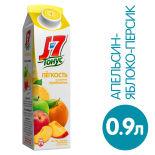 Нектар J-7 Тонус Легкость Персик яблоко апельсин с пребиотиком 900мл