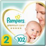Подгузники Pampers Premium Care 4-8кг Размер 2 102шт