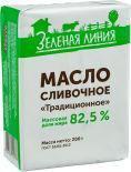 Масло сливочное Маркет Зеленая Линия Традиционное 82.5% 200г