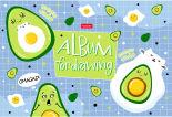 Альбом для рисиования Hatber Веселые авокадки 16 листов в ассортименте