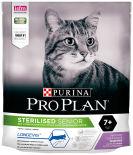 Сухой корм для стерилизованных пожилых кошек Pro Plan Longevis Sterilised Senior 7+ с индейкой 400г