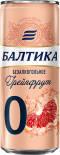 Напиток пивной Балтика №0 Грейпфрут безалкогольное 0.5% 0.33л