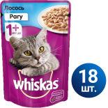 Влажный корм для кошек Whiskas Рагу с лососем 18шт*85г