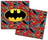 Салфетки бумажные Batman красные 3 слоя 33*33см 20шт