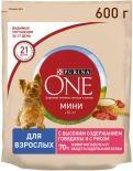 Сухой корм для собак Purina One с говядиной и рисом 600г