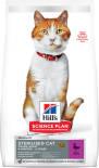 Сухой корм для кошек Hills Science Plan Sterilised Cat для стерилизованных с уткой 10кг