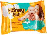 Салфетки влажные Honey Kid детские с алоэ 20шт
