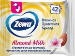 Туалетная бумага Zewa Almond milk влажная 42шт