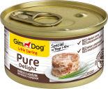 Корм для собак GimDog Pure Delight из цыпленка с говядиной 85г