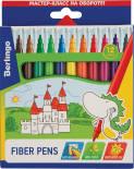 Фломастеры Berlingo Замки смываемые 12 цветов