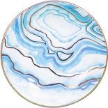 Тарелка декоративная Magic Home Синие разводы