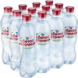 Вода Святой Источник питьевая газированная 500мл