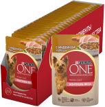 Корм для собак Purina One для здорового веса с индейкой морковью и горохом в подливе 85г