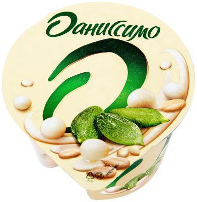 Йогурт Даниссимо Deluxe с семечками и рисовыми шариками в белой шоколадной глазури 2.9% 135г