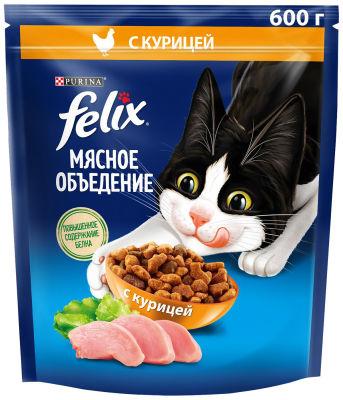 Сухой корм для котят Felix Двойная Вкуснятина с курочкой 600г
