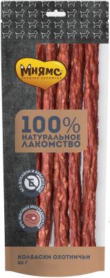 Лакомство для собак Мнямс колбаски охотничьи 80г