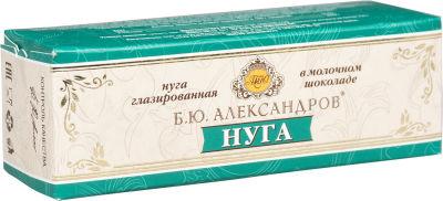 Нуга Б.Ю.Александров глазированная в молочном шоколаде 31% 40г