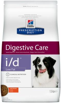 Сухой корм для собак Hills Prescription Diet i/d Low Fat при расстройствах пищеварения и панкреатите с курицей 1.5кг