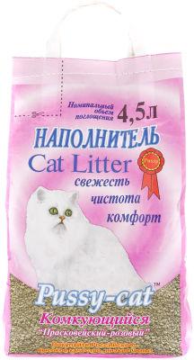 Наполнитель для кошачьего туалета Pussy-Cat комкующийся 10л