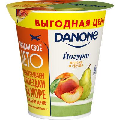 Йогурт Danone Персик-груша 2.8% 260г