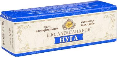 Нуга Б.Ю.Александров глазированная в темном шоколаде 31% 40г