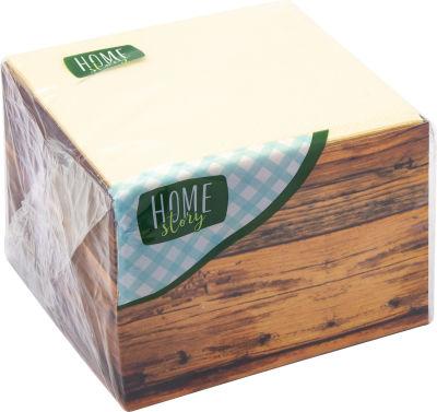 Салфетки бумажные Home Story 24*24см 85шт