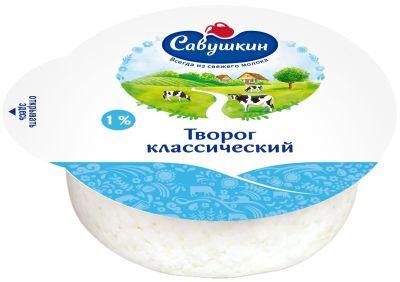Творог Савушкин Традиционный 1% 300г
