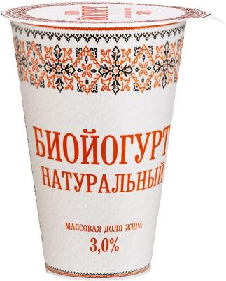 Биойогурт Славянские кружева натуральный 3% 175г