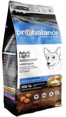 Сухой корм для собак Probalance Adult Light 15кг