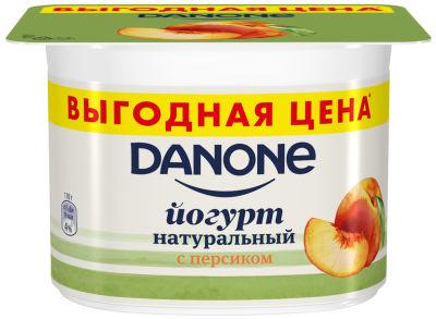 Йогурт Danone Персик 2.9% 110г