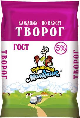 Творог Кубанский молочник 5% 180г