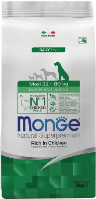 Корм для щенков Monge Dog Maxi для крупных пород 3кг