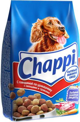 Сухой корм для собак Chappi Сытный мясной обед с говядиной по-домашнему 600г