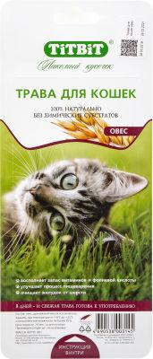 Трава для кошек TiTBiT Овес 40г