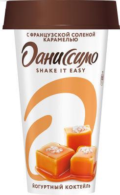 Коктейль йогуртный Даниссимо Shake&Go Французская соленая карамель 2.7% 190г