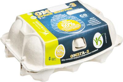 Яйца Волжанин Омега-3 СО коричневые 6шт
